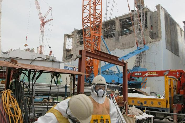 The complicated decommissioning of the crippled Fukushima nuclear reactors is expected to take up to 40 years, experts say (AFP Photo/Japan Pool)