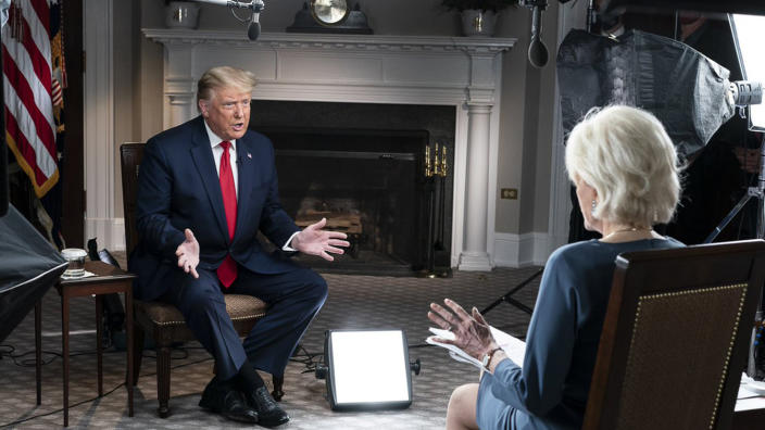 Donald Trump with Leslie Stahl