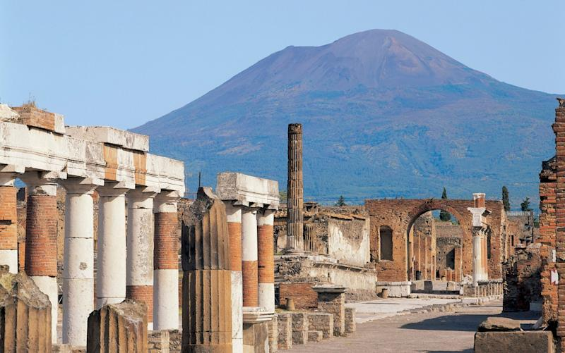 The 'Sator square' was first discovered amid the ruins of Pompeii in Italy - Getty