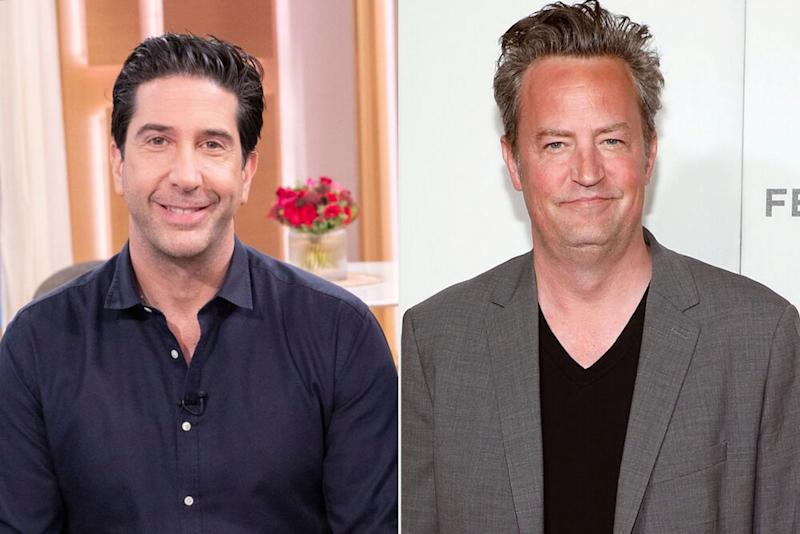 David Schwimmer and Matthew Perry | Ken McKay/ITV/Shutterstock; Taylor Hill/Getty Images