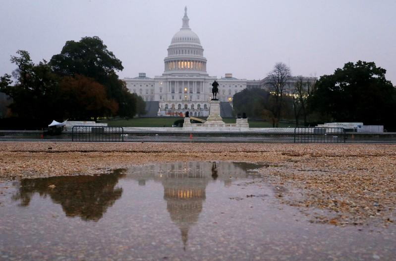 U.S. Capitol building is seen on the morning of the 2018 U.S. midterm election in Washington