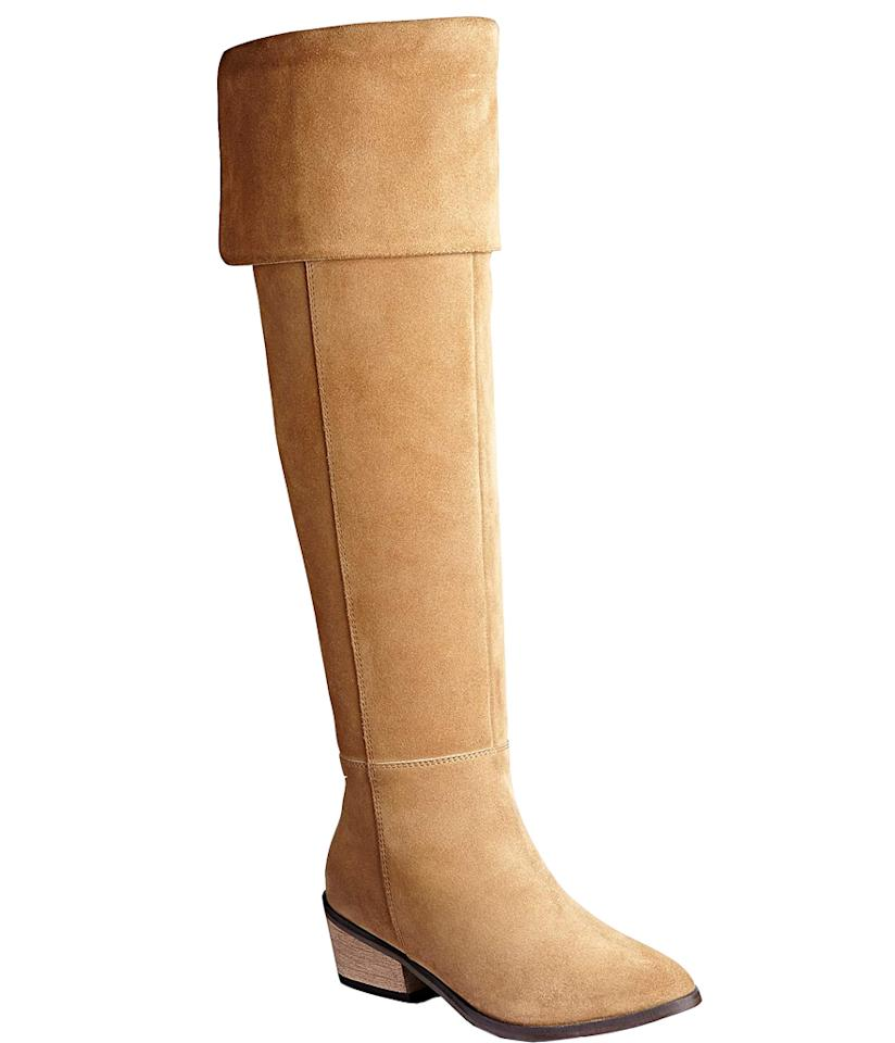 """<p>$149.99, <a rel=""""nofollow"""" href=""""https://www.simplybe.com/en-us/products/sole-diva-over-knee-suede-boots-standard-kg268-tan/p/KG268?v=1000000018%3AStandard%7Ccolor%3AKG268_TAN%7C&mainSearch=null&outletSearch=null"""">Simply Be</a> </p>"""
