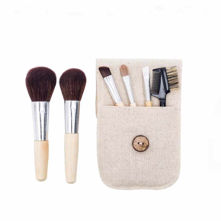 "<p><strong>Star Rating:</strong> 4.6 out of 5</p> <p><strong>Key selling points:</strong> Whether you've pared down your makeup routine considerably or decided to take up traveling the nation in a van, this cute and compact brush set seems fitting for a minimalist quarantine beauty vibe. It's got a mini bamboo brush for blush, powder, eyeshadow, eyelashes, and brows, and comes in a canvas carrying case that can fit just about anywhere.</p> <p><strong>What customers say:</strong> ""These are the perfect brushes for minimalist travel! I travel very lightly, and I love their amazing softness and how easy they are to clean. I have one for home, one in my purse, and one for that weekend last-minute travel bag. Perfect."" —<a href=""https://amzn.to/3sJVKXa"" rel=""nofollow noopener"" target=""_blank"" data-ylk=""slk:Dee"" class=""link rapid-noclick-resp""><em>Dee</em></a></p> $9, Amazon. <a href=""https://www.amazon.com/Natural-Brushes-Cosmetic-Shadows-Eyebrow/dp/B08DTGK4Z6/"" rel=""nofollow noopener"" target=""_blank"" data-ylk=""slk:Get it now!"" class=""link rapid-noclick-resp"">Get it now!</a>"