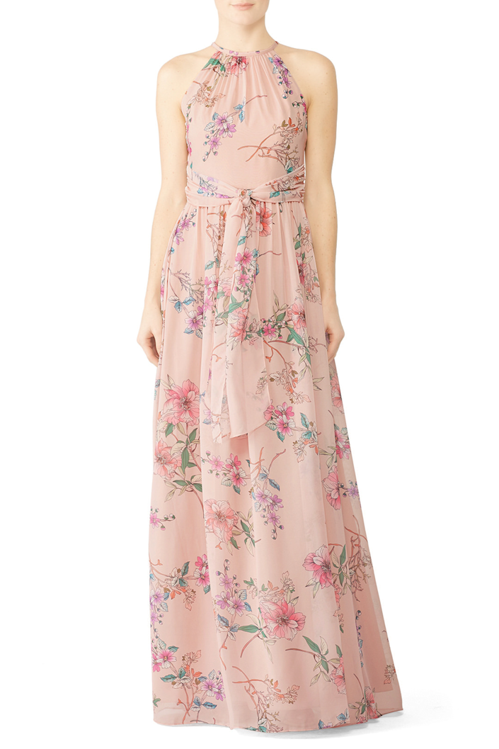 """<h3><strong>Rent the Runway</strong></h3><br><strong>Price Range: </strong>$30 - $340 for a rental<br><strong>Size Range: </strong>0 - 22 + maternity<br><br>Another option is skipping the bridesmaid dress purchase altogether and renting one instead. If your group includes fashion-forward women who like the appeal of a designer dress without the big price tag, <a href=""""https://www.renttherunway.com/"""" rel=""""nofollow noopener"""" target=""""_blank"""" data-ylk=""""slk:Rent the Runway"""" class=""""link rapid-noclick-resp"""">Rent the Runway</a> is a good option. It's best for coordinating bridesmaids rather than a synchronized group as you won't be able to alter the dress but you <em>will</em> be able to snag the style you like most (approved by the bride, of course) in your assigned shade.<br><br><em>Shop </em><strong><em><a href=""""https://www.renttherunway.com/c/bridesmaid-dresses"""" rel=""""nofollow noopener"""" target=""""_blank"""" data-ylk=""""slk:Rent The Runway"""" class=""""link rapid-noclick-resp"""">Rent The Runway</a></em></strong><br><br><strong>Monique Lhuillier</strong> Floral Daniela Gown, $, available at <a href=""""https://go.skimresources.com/?id=30283X879131&url=https%3A%2F%2Fwww.renttherunway.com%2Fshop%2Fdesigners%2Fmonique_lhuillier_bridesmaid%2Ffloral_daniela_gown"""" rel=""""nofollow noopener"""" target=""""_blank"""" data-ylk=""""slk:Rent The Runway"""" class=""""link rapid-noclick-resp"""">Rent The Runway</a>"""