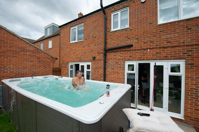 Adam Peaty trains at his house in Loughborough (PA)