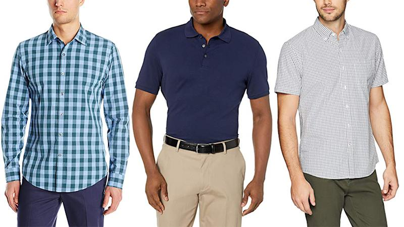 Oxfords, T-Shirts, polos and more — don't miss out on Amazon's huge one-day sale on men's shirting.. (Photo: Amazon)