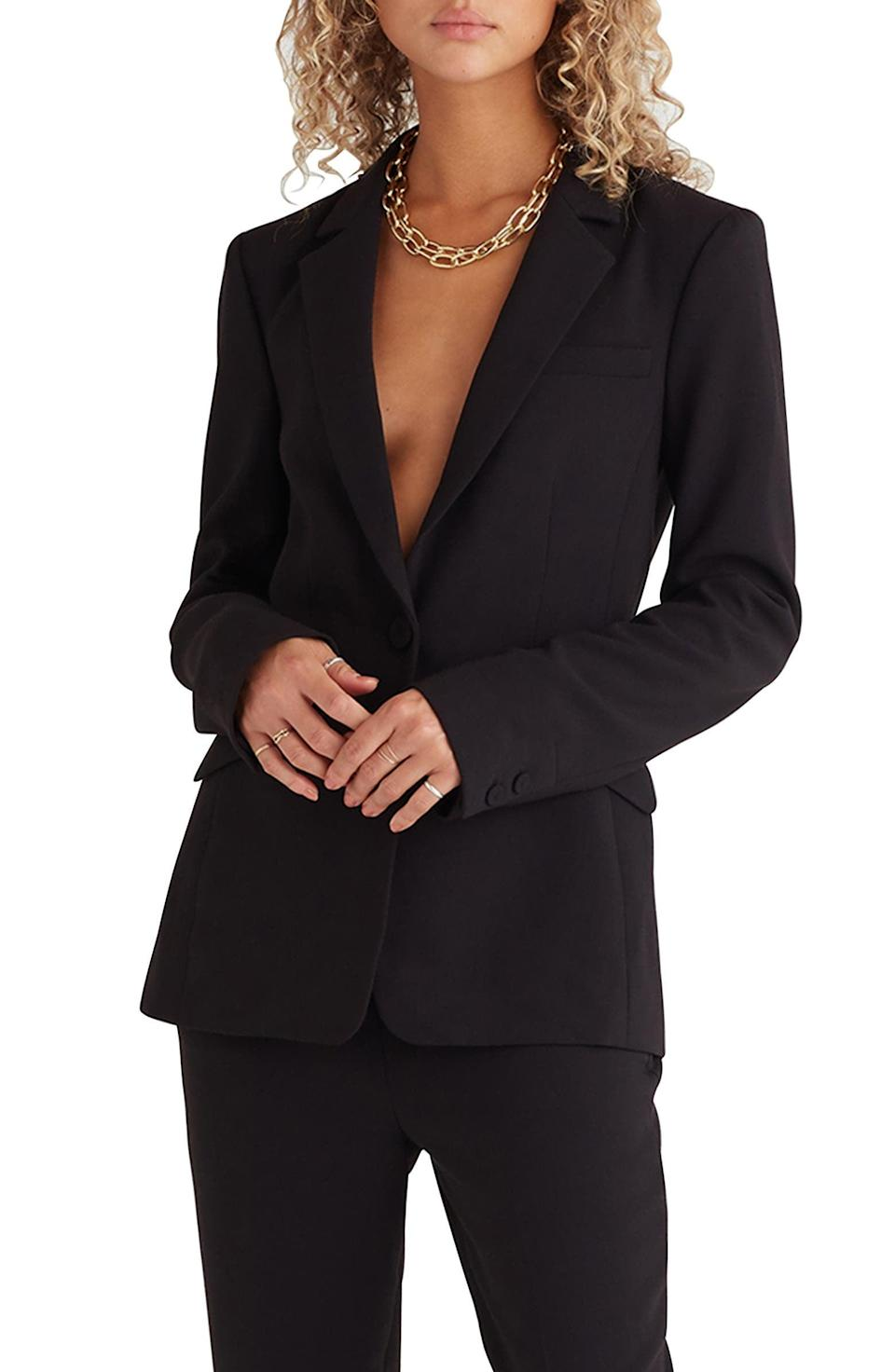 <p>We all need a classic <span>Favorite Daughter Slim Blazer</span> ($278) in our closet. It's the not-so-basic staple that will keep on giving.</p>