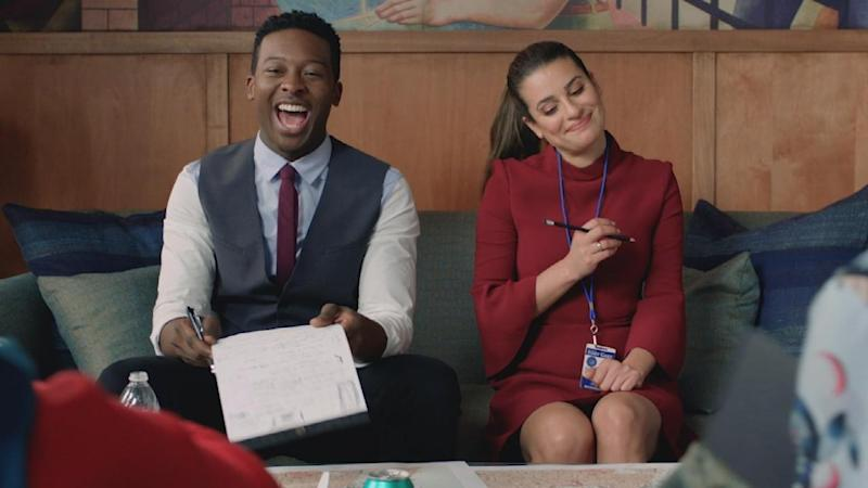 'The Mayor': Brandon Micheal Hall and Lea Michele Spitball Ideas in Rapid-Fire Sneak Peek (Exclusive)