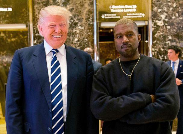 PHOTO: President-elect Donald Trump and Kanye West pose for a picture in the lobby of Trump Tower in New York in this Dec. 13, 2016 file photo. (Seth Wenig/AP, FILE)