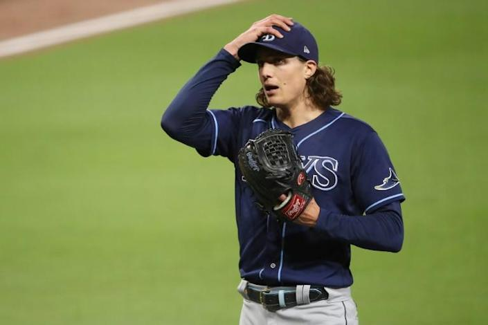 Tampa Bay pitcher Tyler Glasnow, who experienced 'mild' Covid-19 symptoms prior to the start of the Major League Baseball season, will start for the Rays in game one of the World Series against the Los Angeles Dodgers