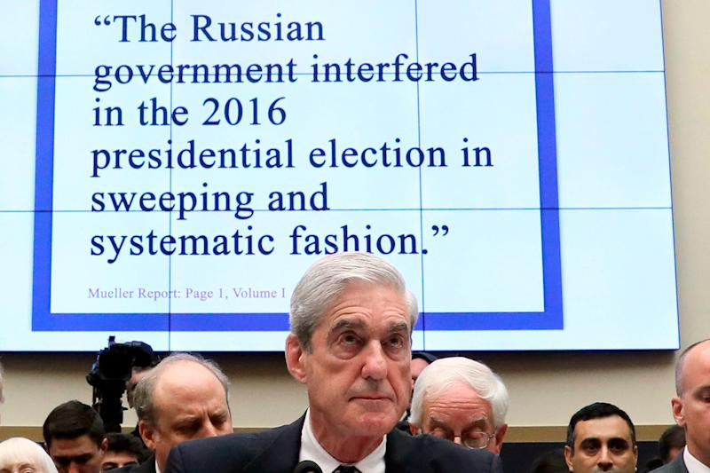 Former special counsel Robert Mueller testifies before the House Judiciary Committee on July 24, 2019.