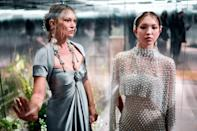 <p>Kate Moss and daughter Lila Grace showcase British designer Kim Jones' looks during Fendi's spring/summer 2021 presentation at Paris Haute Couture Fashion Week on Wednesday.</p>