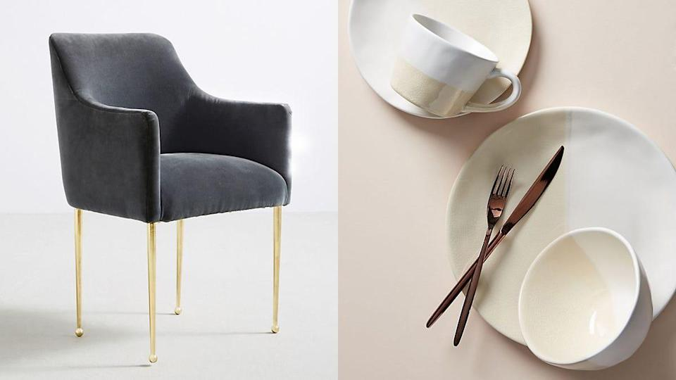 Right now, you can save an extra 40% on sale home goods and an extra 25% off sale furniture at Anthro.