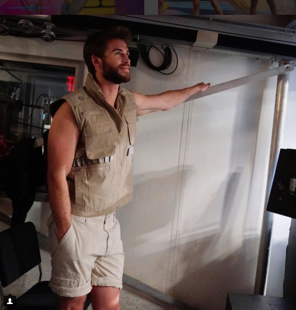 Liam Hemsworth backstage 'Saturday Night Live' in his outback attire. Source: Instagram