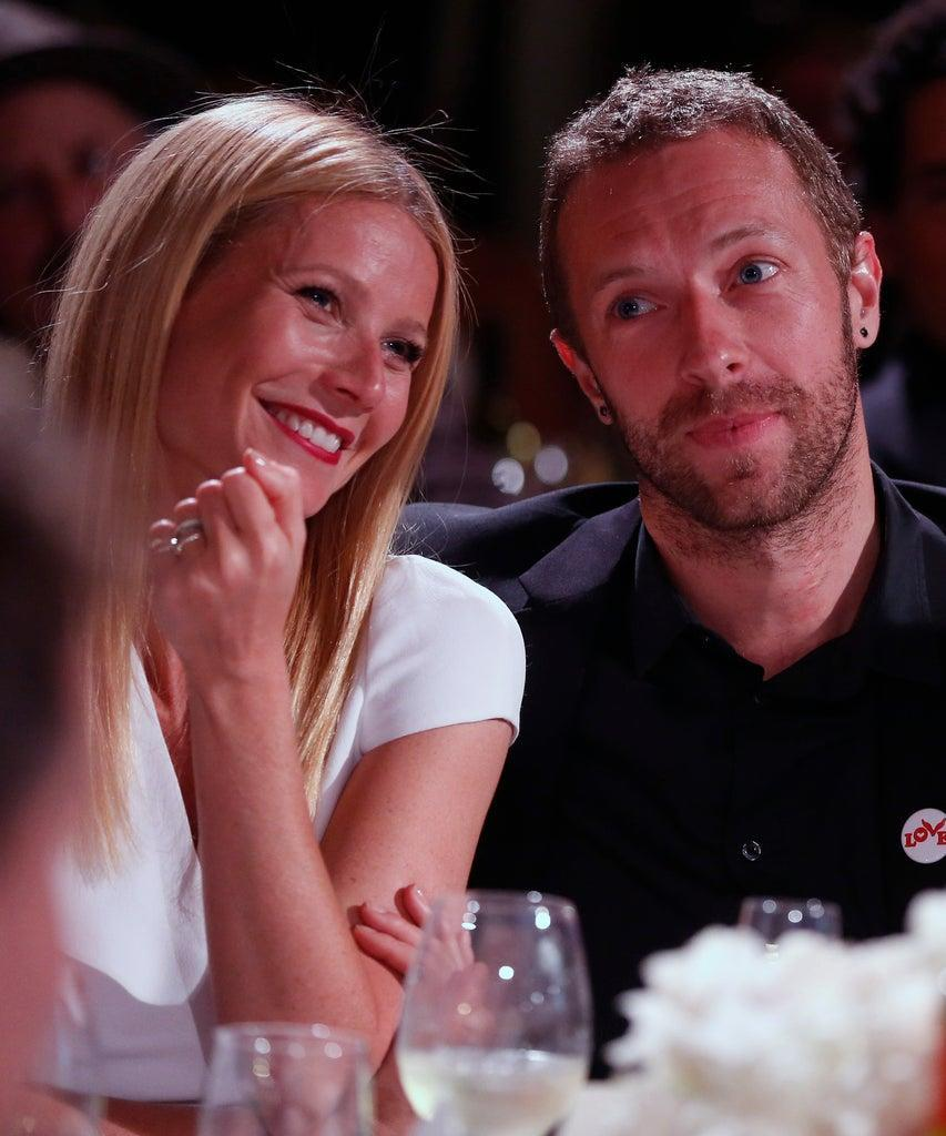 Mandatory Credit: Photo by Colin Young-Wolff/Invision/AP/Shutterstock (9062386bm) Gwyneth Paltrow, left, and Chris Martin are seen at the 3rd Annual Sean Penn & Friends HELP HAITI HOME Gala on at the Montage Hotel in Beverly Hills, Calif 3nd Annual Sean Penn & Friends HELP HAITI HOME Gala – Inside, Beverly Hills, USA