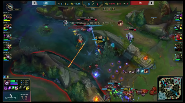 KT Rolster lose a teamfight instead of maintaining split (lolesports)
