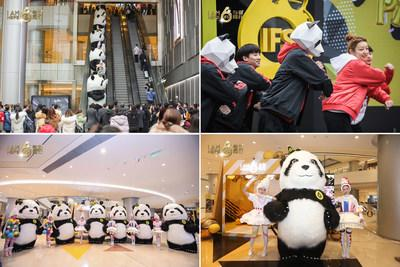 The public enjoy interactive experience with the cute and iconic panda