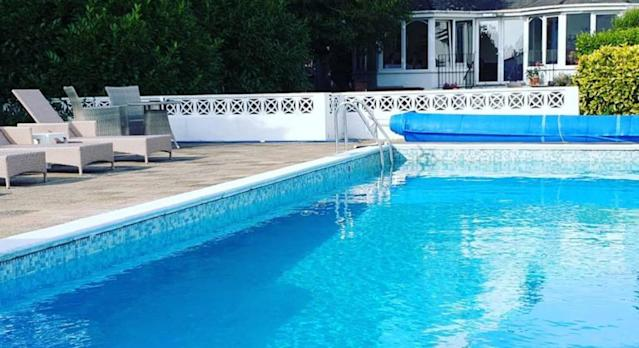 The Le Chêne Hotel has a spacious sun terrace and outdoor pool. (Booking.com)