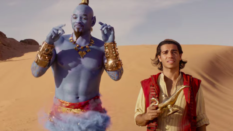 Will Smith and Mena Massoud in Aladdin (Credit: Disney)