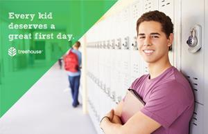 Every kid deserves a great first day. Help support youth in care by hosting a back-to-school drive today. Learn more at treehouseforkids.org/bts.