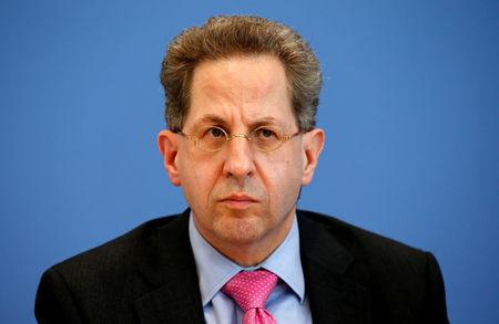 FILE PHOTO: Maassen, Germany's head of the German Federal Office for the Protection of the Constitution addresses a news conference to introduce the agency's 2015 report on threats to the constitution in Berlin