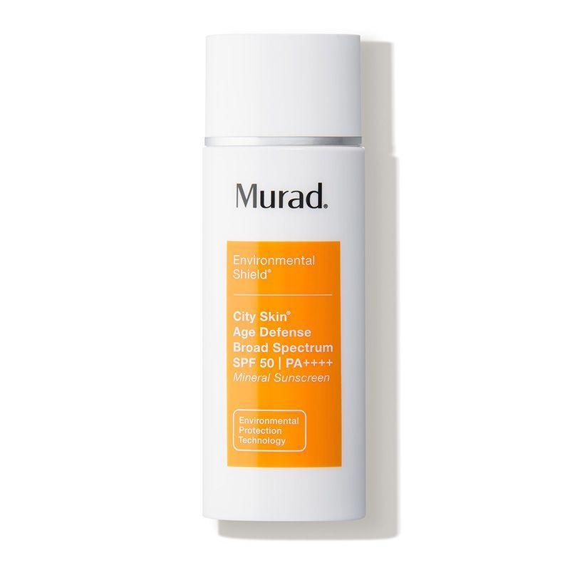 """<p><strong>Murad</strong></p><p>dermstore.com</p><p><a href=""""https://go.redirectingat.com?id=74968X1596630&url=https%3A%2F%2Fwww.dermstore.com%2Fproduct_City%2BSkin%2BAge%2BDefense%2BBroad%2BSpectrum%2BSPF%2B50%2BPA_71902.htm&sref=https%3A%2F%2Fwww.marieclaire.com%2Fbeauty%2Fg35685017%2Fdermstore-beauty-refresh-sale%2F"""" rel=""""nofollow noopener"""" target=""""_blank"""" data-ylk=""""slk:Shop Now"""" class=""""link rapid-noclick-resp"""">Shop Now</a></p><p><strong><del>$68</del> $54 (20% off)</strong></p><p>Murad's 100% mineral face sunscreen is another Dermstore reviewer-obsessed find averaging 5/5 stars. As one reviewer put it: """"I have been using this for 1 year and a half now. I stopped using this for a while because of the price and my skin was angry at me. My skin kept breaking out until this came back in my routine. I believed this is one of the best sunscreens on the market.""""</p>"""