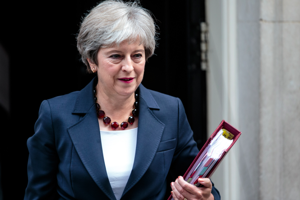 <em>Tory Brexiteers are reportedly plotting to oust Theresa May (Getty)</em>