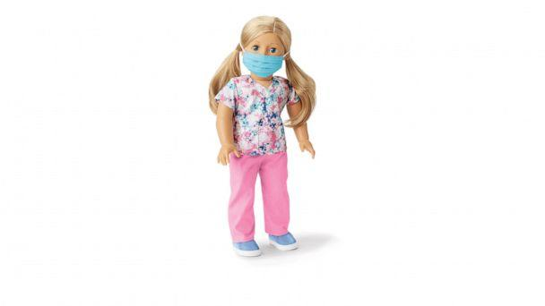 PHOTO: An American Girl is shown wearing the #ThankYouHeroes Scrubs Doll Outfit. (American Girl )