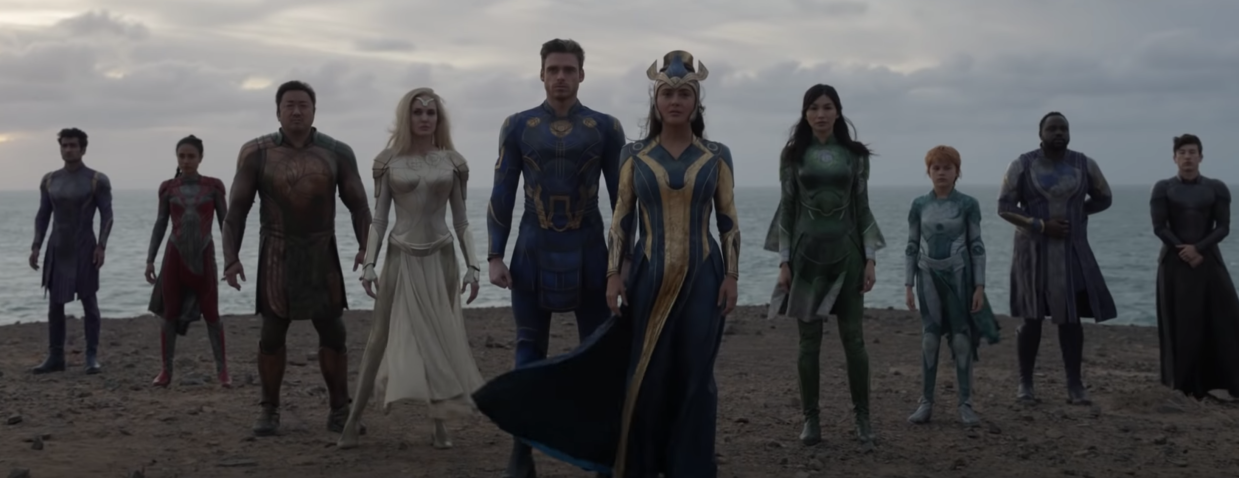 The cast of Marvel's newest team-up movie, 'Eternals' (Photo: Marvel Studios/YouTube)