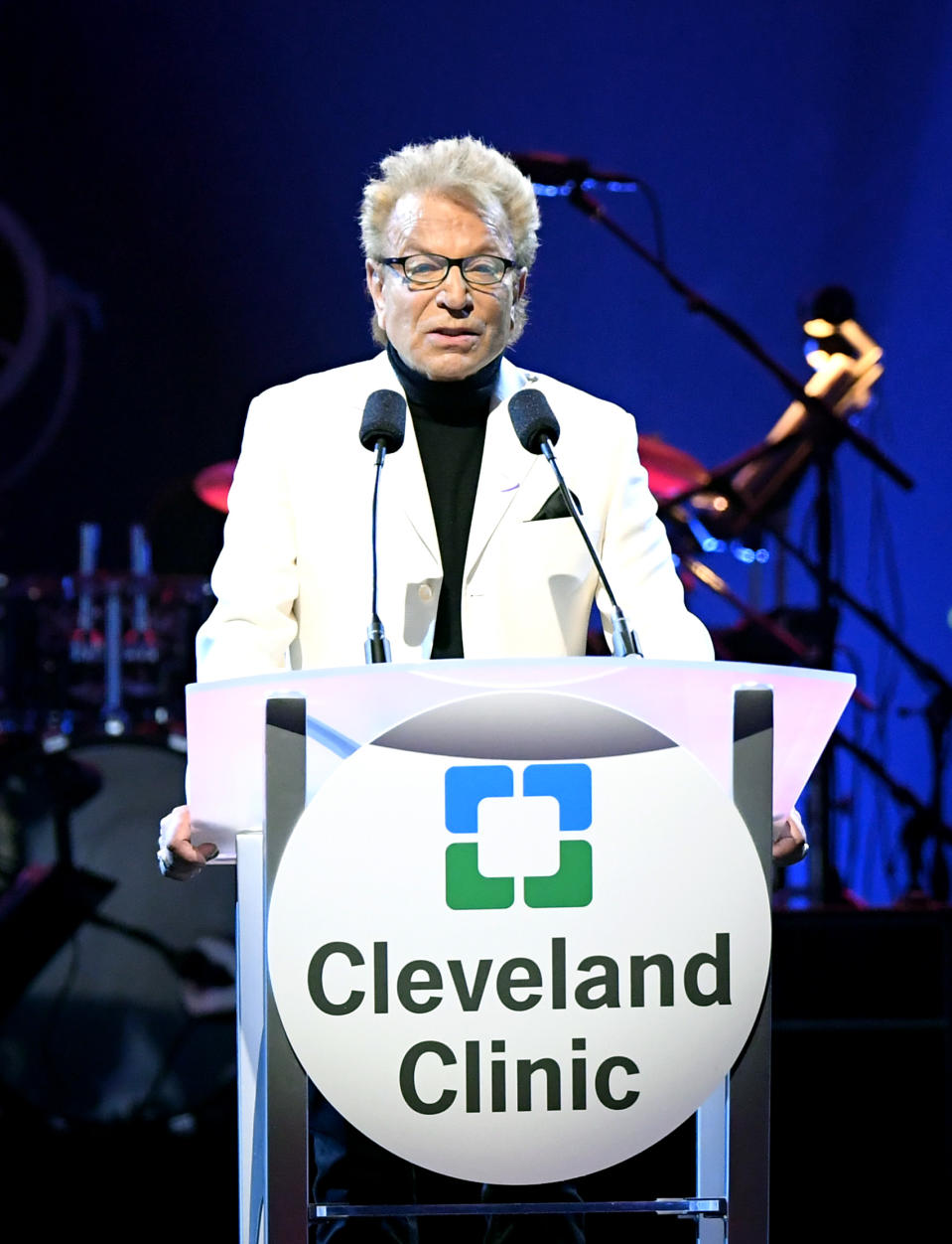 Siegfried Fischbacher speaks during the 23rd annual Keep Memory Alive 'Power of Love Gala' benefit for the Cleveland Clinic Lou Ruvo Center for Brain Health in 2019. (Photo by Bryan Steffy/Getty Images for Keep Memory Alive)