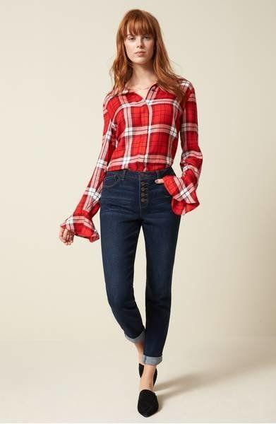 "A sweet, ruffled take on your <a href=""https://shop.nordstrom.com/s/sanctuary-nightscape-plaid-ruffle-cuff-shirt-regular-petite/4694745?origin=keywordsearch-personalizedsort&fashioncolor=PARIS%20PLAID"" target=""_blank"">classic plaid shirt</a>."