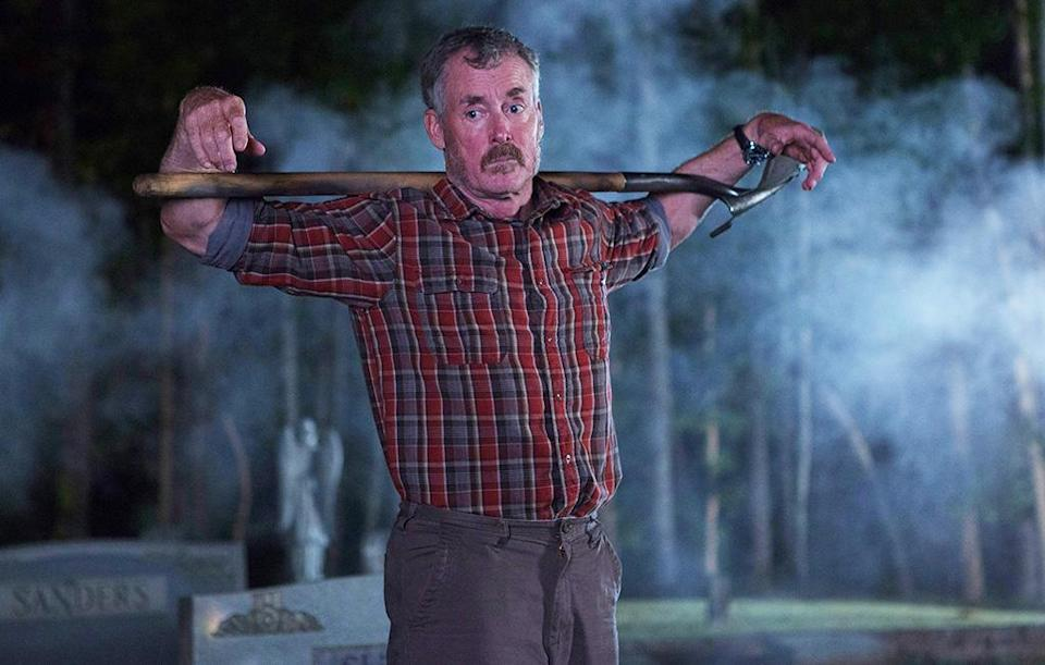 <p><em>Stan Against Evil</em> is largely about moving on after loss. We start Season 1 at the funeral of our lead character's wife, and by the end of the season, he has only started to come to terms with it. I went through a divorce a couple years ago, and didn't realize until midway through filming that I had been writing about myself. (Credit: Kim Simms/IFC) </p>