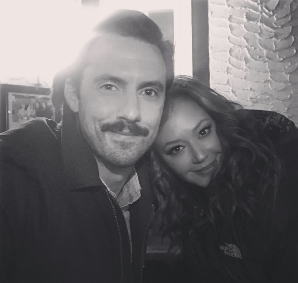 """<p>Jealous! Not only does Leah Remini get to work and be best friends with Jennifer Lopez, now she's snuggling up to Milo Ventimiglia! """"Such a nice guy, this one!"""" she captioned this black-and-white shot with the <em>This Is Us</em> star. The new friends are currenting shooting J.Lo's flick, <em>Second Act</em>, in New York City. (Photo: <a rel=""""nofollow noopener"""" href=""""https://www.instagram.com/p/BbNZYjAj2ji/?taken-by=leahremini"""" target=""""_blank"""" data-ylk=""""slk:Leah Remini via Instagram"""" class=""""link rapid-noclick-resp"""">Leah Remini via Instagram</a>) </p>"""