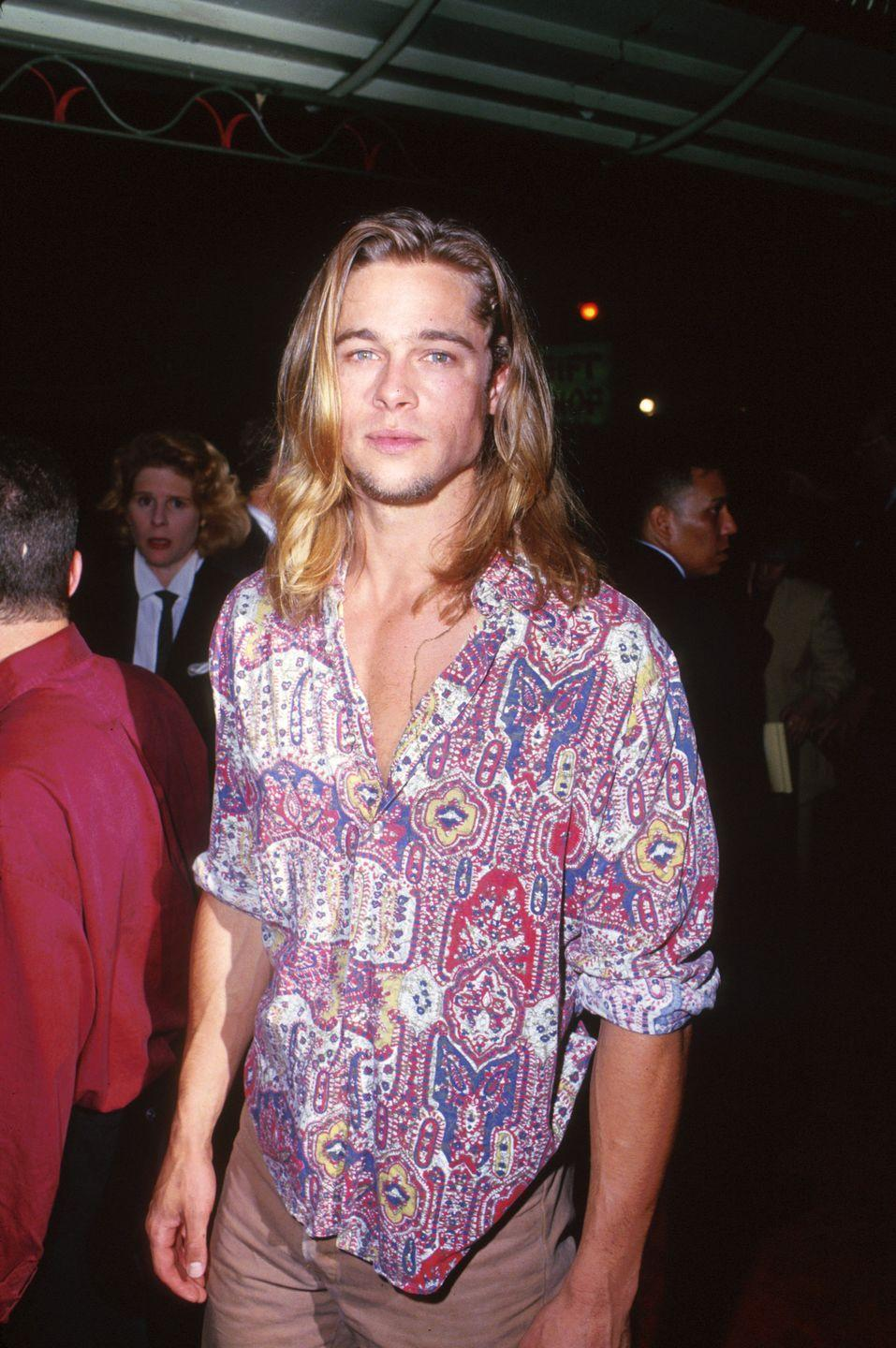 <p>Brad Pitt grew his blonde hair long for one of his earliest films, <em>Legends of the Fall. </em>The actor ended up keeping the look for a few more years before he chopped it off. </p>
