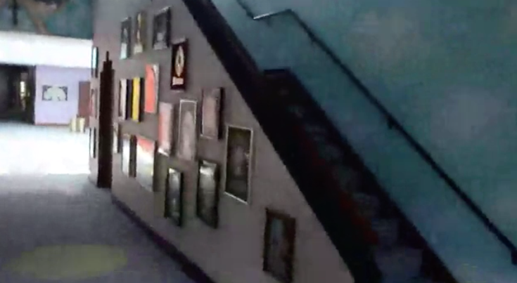 The hallway in Paisley Park which features in the footage released by investigators. Source: Star Tribune