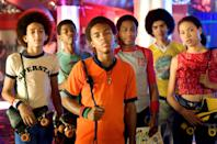 "<p>In 1970s Chicago, Xavier (Bow Wow) turns to skating as a way to cope with the loss of his mom. He and his group of friends are the stars of the roller rink, but after it closes down, they are forced to migrate to the much fancier Sweetwater Roller Rink. Under the scrutiny of the reigning champions, headed by a skater named Sweetness (Wesley Jonathan), the group must prove their skills to a whole new crowd.</p> <p><a href=""https://www.amazon.com/Roll-Bounce-Bow-Wow/dp/B000SW16G2/"" class=""link rapid-noclick-resp"" rel=""nofollow noopener"" target=""_blank"" data-ylk=""slk:Watch Roll Bounce on Amazon Prime Video"">Watch <strong>Roll Bounce</strong> on Amazon Prime Video</a>.</p>"