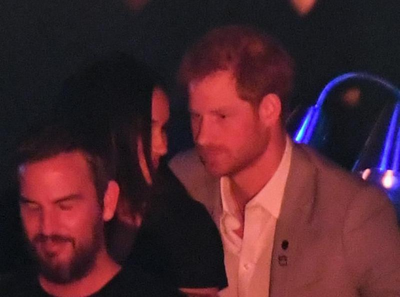 Harry and Meghan stayed close all night. Source: Getty