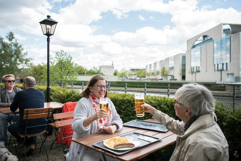 Some Germans could enjoy pints on patios for the first time in months