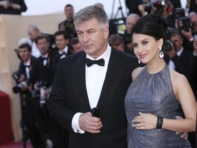 Actor Alec Baldwin and his wife Hilaria Thomas arrive for the screening of Blood Ties at the 66th international film festival, in Cannes, southern France, Monday, May 20, 2013. (Photo by Joel Ryan/Invision/AP)