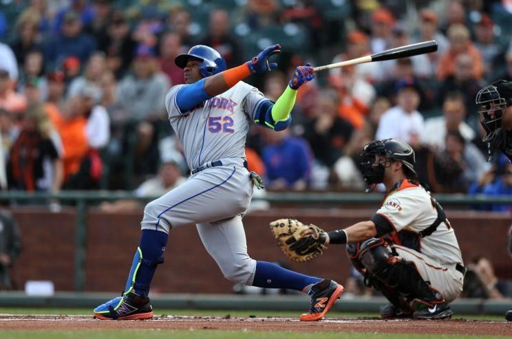 Yoenis Cespedes is saying all the right things ... for now. (Getty Images/Brad Mangin)