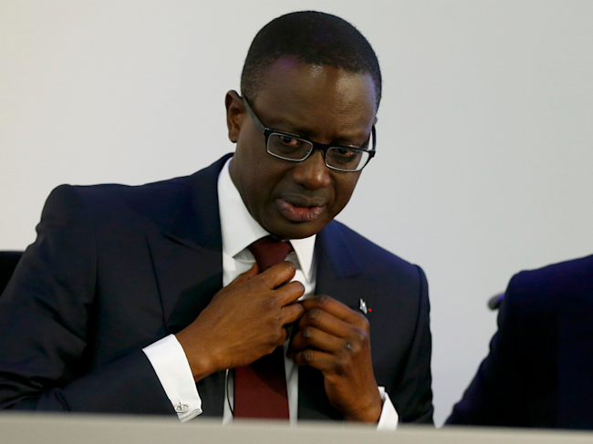 Switzerland CEO Tidjane Thiam Chairman Urs Rohner Swiss Bank Cedit Suisse