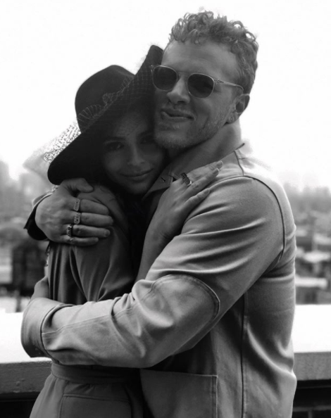The loved-up couple share a warm hug after the nuptials in NYC. Source: Instagram/emrata
