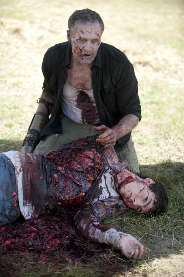 "Merle Dixon (Michael Rooker) and Ben (Tyler Chase) in ""The Walking Dead"" episode, ""This Sorrowful Life."""
