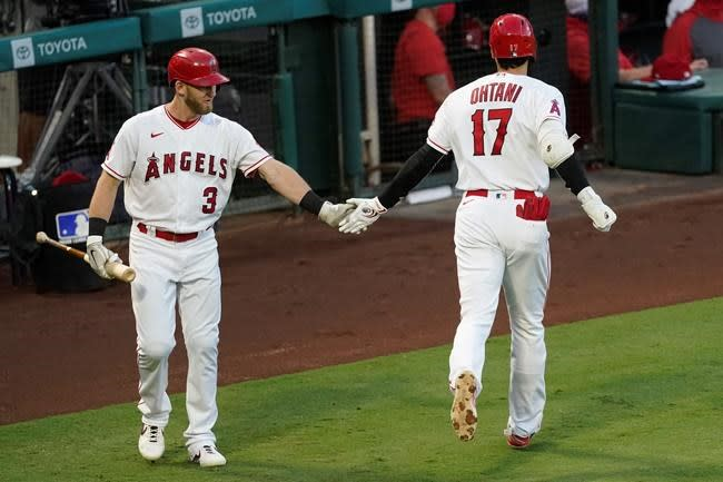 Trout, Ohtani put Angels past Rangers 4-3 for 3rd straight W