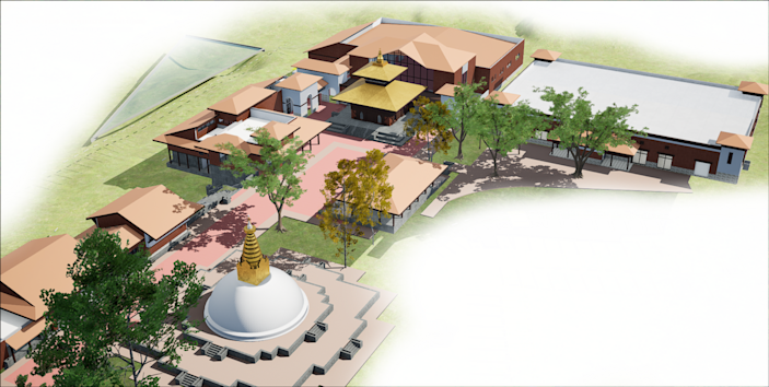 The $ 6 million project of the Nepal Cultural Spirit Center in Eures includes Hindu and Buddhist temples.