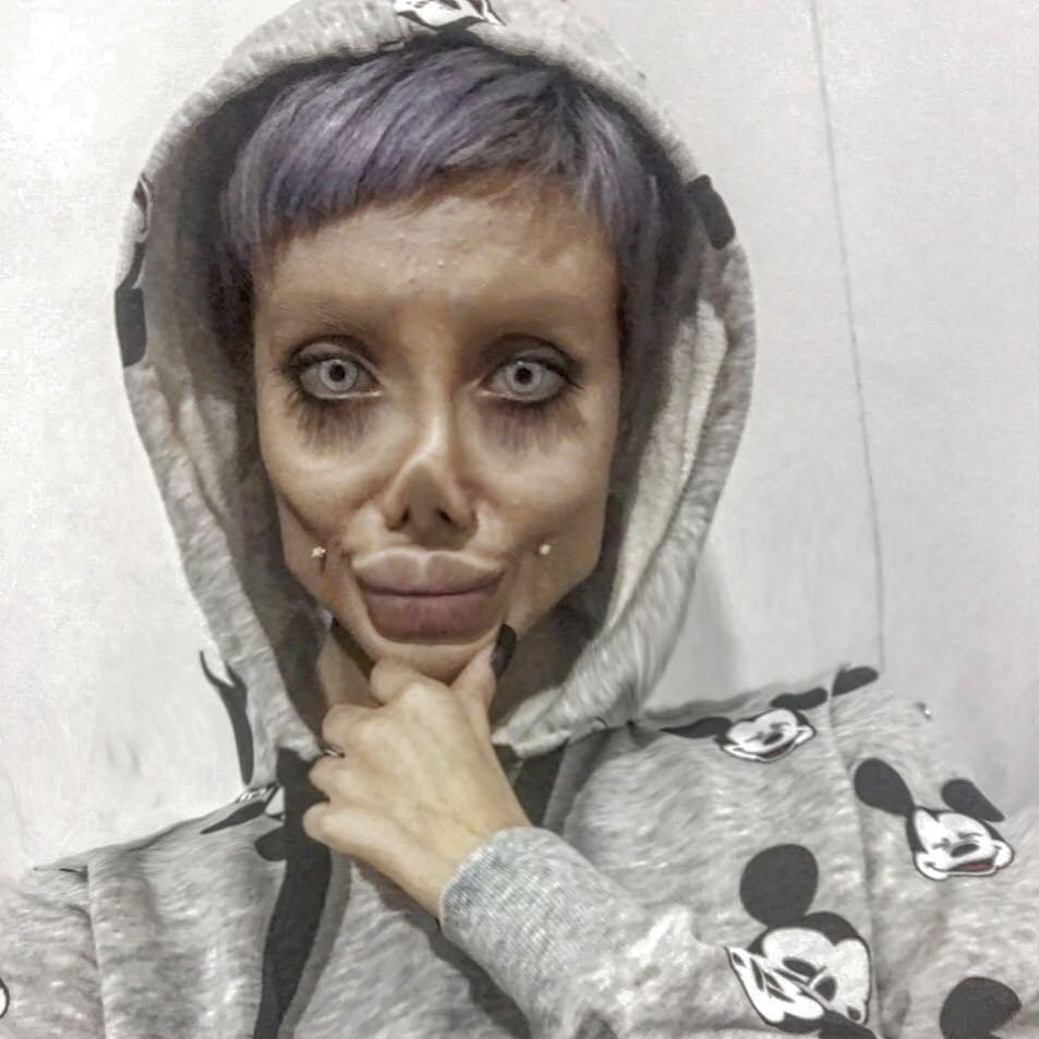 Instagram famous Sahar Tabar, is known for looking like a 'zombie' Angeline Jolie