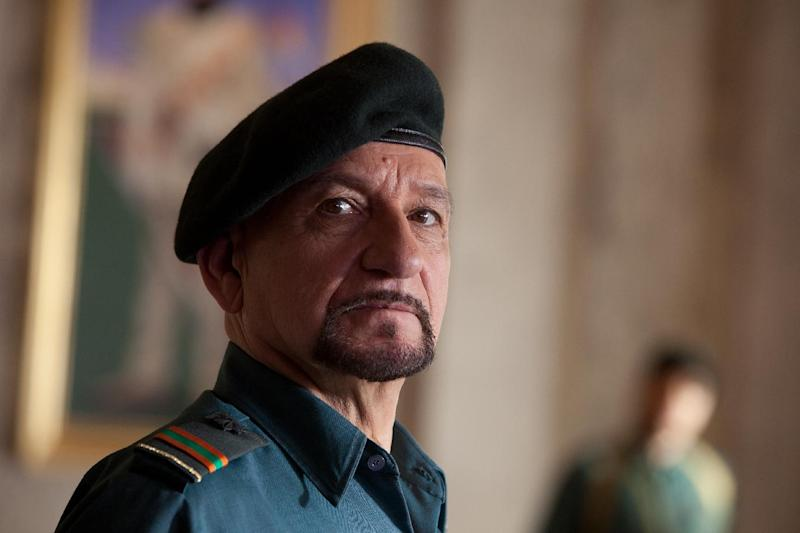 """In this film image released by Paramount Pictures, Ben Kingsley portrays Tamir in a scene from """"The Dictator."""" (AP Photo/Paramount Pictures, Melinda Sue Gordon)"""