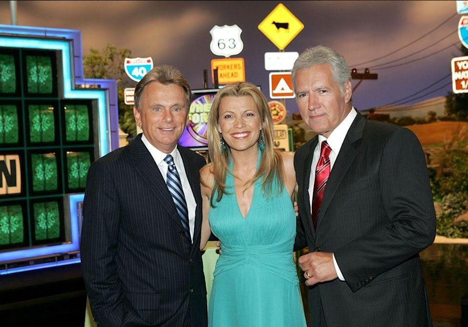 <p> Alex Trebek and Pat Sajak switched hosting jobs for <em>Jeopardy</em> and <em>Wheel of Fortune</em> as an April Fool's Joke. Pat's wife Leslie took over Vanna White's role as she and Pat were the contestants playing for charity. </p>