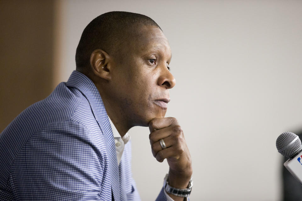 The legal team for Toronto Raptors president Masai Ujiri released body-cam footage purportedly showing a sheriff's deputy instigating an altercation. (Carlos Osorio/Toronto Star via Getty Images)