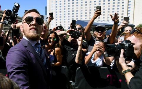 UFC lightweight champion Conor McGregor arrives at Toshiba Plaza on August 22, 2017 in Las Vegas, Nevada. McGregor will fight Floyd Mayweather Jr. in a super welterweight boxing match at T-Mobile Arena - Credit: Getty Images North America